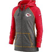 Nike Women's Kansas City Chiefs Gym Vintage Club Full-Zip Hoodie