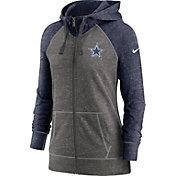 Nike Women's Dallas Cowboys Gym Vintage Club Full-Zip Hoodie