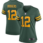 Nike Women's Green Bay Packers Aaron Rodgers #12 Alternate Game Green Jersey