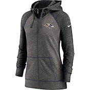Nike Women's Baltimore Ravens Gym Vintage Club Full-Zip Hoodie