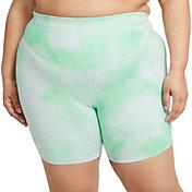 "Nike One Women's Plus Size Icon Clash 7"" Printed Shorts"