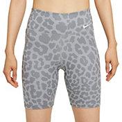"""Nike One Women's Leopard Print 7"""" Bike Shorts"""
