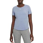 Nike Women's Dri-FIT One Luxe Standard Fit Short-Sleeve Top