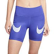 Nike Women's Dri-FIT Fast Mid-Rise Swoosh Shorts