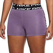 "Nike Women's Pro Dri-FIT 3"" Graphic Shorts"