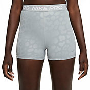 "Nike Pro Women's Dri-FIT High-Waisted 3"" Leopard Print Shorts"