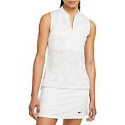 Nike Women's Victory Floral Print Sleeveless Golf Polo