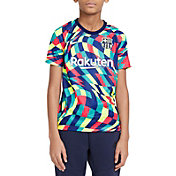 Nike Youth FC Barcelona Blue Prematch Jersey