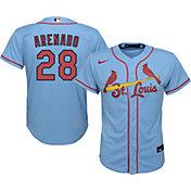 Nike Youth St. Louis Cardinals Nolan Arenado #28 Blue Cool Base Jersey