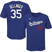 Nike Youth Los Angeles Dodgers Cody Bellinger #35 Royal 2021 City Connect T-Shirt