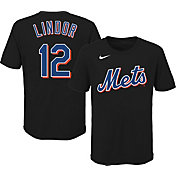 Outerstuff Youth New York Mets Francisco Lindor #12 Black T-Shirt