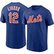 Nike Boys' New York Mets Francisco Lindor #12 Royal T-Shirt