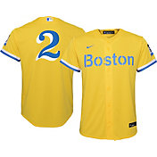 Nike Youth Boston Red Sox Xander Boegarts #2 Gold 2021 City Connect Replica Jersey