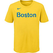 Outerstuff Youth Boston Red Sox Gold 2021 City Connect Wordmark T-Shirt