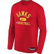Nike Youth Atlanta Hawks Red Long Sleeve Practice Shirt