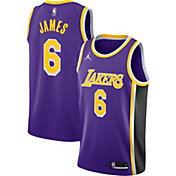 Nike Youth Los Angeles Lakers LeBron James #6 Purple Dri-FIT Swingman Jersey