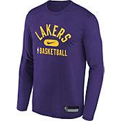 Nike Youth Los Angeles Lakers Purple Long Sleeve Practice Shirt