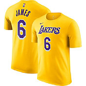Nike Youth Los Angeles Lakers LeBron James #6 Yellow T-Shirt