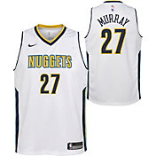 Nike Youth Denver Nuggets Jamal Murray #27 White Dri-FIT Swingman Jersey