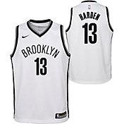 Nike Youth Brooklyn Nets James Harden #13 White Dri-FIT Swingman Jersey