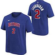 Nike Youth Detroit Pistons Cade Cunningham Blue T-Shirt