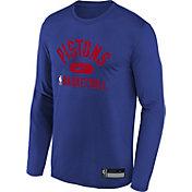 Nike Youth Detroit Pistons Blue Long Sleeve Practice Shirt