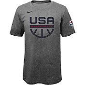 Nike Youth USA Basketball Olympics Grey Practice T-Shirt