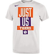 Nike Youth Clemson Tigers 'Just Us' Bench T-Shirt