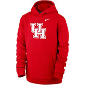 Nike Youth Houston Cougars Red Club Fleece Pullover Hoodie