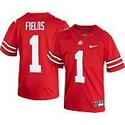 Nike Youth Ohio State Buckeyes Justin Fields #1 Scarlet Football Jersey