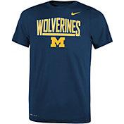 Nike Youth Michigan Wolverines Blue Dri-FIT Legend T-Shirt