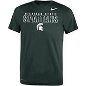 Nike Youth Michigan State Spartans Green Dri-FIT Legend T-Shirt