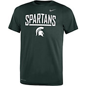 Nike Youth Michigan State Spartans Green Dri-FIT Legend T-Shirt