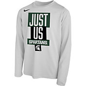 Nike Youth Michigan State Spartans 'Just Us' Bench Long Sleeve T-Shirt