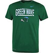 Nike Youth Tulane Green Wave Olive Dri-FIT Legend T-Shirt