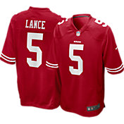 Nike Youth San Francisco 49ers Trey Lance #5 Red Game Jersey