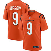 Nike Youth Cincinnati Bengals Joe Burrow #9 Orange Game Jersey