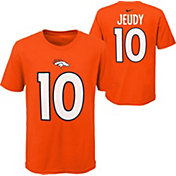 Nike Youth Denver Broncos Jerry Jeudy #10 Orange T-Shirt