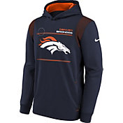 Nike Youth Denver Broncos College Navy Therma Pullover Hoodie