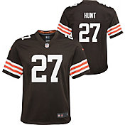 Nike Youth Cleveland Browns Kareem Hunt #27 Brown Game Jersey