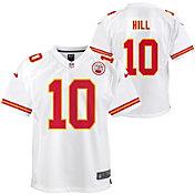 Nike Youth Kansas City Chiefs Tyreek Hill #10 White Game Jersey