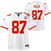 Nike Youth Kansas City Chiefs Travis Kelce #87 White Game Jersey