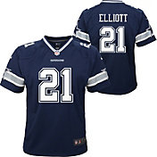 Nike Youth Dallas Cowboys Ezekiel Elliott #21 Navy Game Jersey