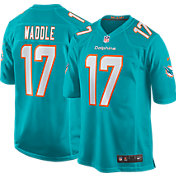 Nike Youth Miami Dolphins Jaylen Waddle #17 Aqua Game Jersey