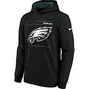 Nike Youth Philadelphia Eagles Black Therma Pullover Hoodie