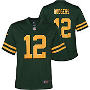 Nike Youth Green Bay Packers Aaron Rodgers #12 Alternate Game Green Jersey