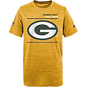 Nike Youth Green Bay Packers Sideline Legend Velocity Gold T-Shirt