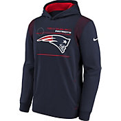 Nike Youth New England Patriots College Navy Therma Pullover Hoodie