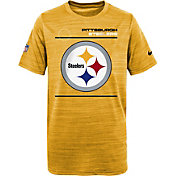 Nike Youth Pittsburgh Steelers Sideline Legend Velocity Gold T-Shirt
