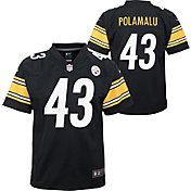 Nike Youth Pittsburgh Steelers Troy Polamalu #43 Black Game Jersey
